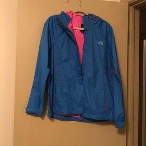 The North Face Blue Raincoat M
